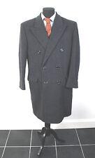 HAMMERSLEY - Mens Long DARK GREY WOOL & CASHMERE COAT UK 40 Short