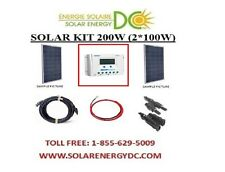 Solar Panel KIT Panneau Solaire 200 Watt (2 * 100 W) Poly 12V RV Chalet 30A LCD