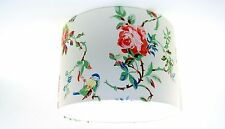 """30cm / 12"""" Lampshade Handmade with Cath Kidston Birds and Roses White Wallpaper"""