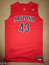 Jordan Hill #43 Arizona Wildcats NCAA Game Worn Used Basketball Nike Jersey 54