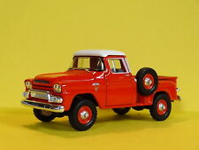 1959 GMC STEP SIDE PICKUP TRUCK RED 1/64 SCALE LIMITED EDITION REAL RUBBER P