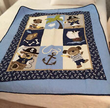 Blue Navy Dog Puppy Sailor Pirate Boy Cot bed/Sofa/Chair Throw/Blanket Coverlet