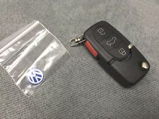 1998-2002 VOLKSWAGEN FLIP KEY REMOTE FOB SHELL ROUND BUTTONS GOLF BEETLE JETTA