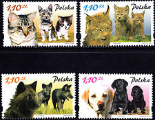 Poland 2002 Mammals Pets and Their Kittens, Complete Set of Stamps, MNH