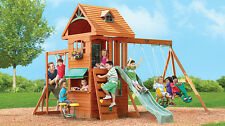 Ridgeview Clubhouse Wooden Swing Set Ages 3-10 Big Backyard