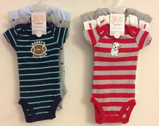 CARTER'S JUST ONE YOU SHORT SLEEVE BODYSUITS SIZE NEWBORN NB BOY GIFT SET 6 PC