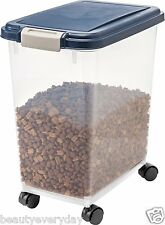 Dog Food Storage Container Cat Pet Dry Box 30-33 Quart Feeding Rolling Portable