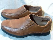 JOHNSTON & MURPHY J&M Sheepskin Leather XC4 Rust Brown Loafers Shoes Men's 10.5M