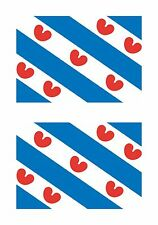 Friesland Netherlands Flag 2x Stickers Tablet Car Truck Locker Door