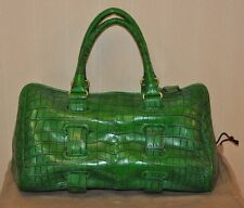 AUTHENTIC NEW BOTTEGA VENETA GREEN CROCODILE DOCTOR BAG