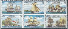 Anguilla. 1976 MNH. SG 255 to 260. Ships.  cv£10+ (H364)