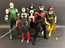 "DC COLLECTIBLES NEW 52 LOT OF 5 7"" FIGURES JUSTICE LEAGUE GREG CAPULLO NICE!!!"