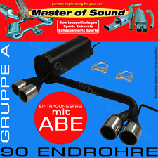 MASTER OF SOUND DUPLEX AUSPUFF VW GOLF 3+CABRIO 91-98