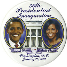 2009 Barack Michelle Obama Inauguration Souvenir Button (2318)