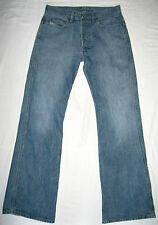 Men's DIESEL RAVIX Jeans Blue Wash 724 Button Fly BootCut Size 30 (Real W31 L32)