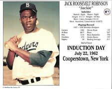 "Jackie Robinson Brooklyn Dodgers 8"" x 10"" 1962 HOF Supercard"