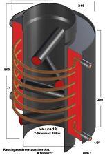 Rauchgaswärmetauscher max10kw Aufsatz f. jeden Ofen Aschluß Heizung/Brauchwasser
