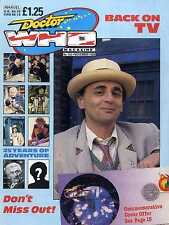 DOCTOR WHO MAGAZINE #142 25 YEARS OF ADVENTURE, BOB BAKER, SYLVESTER MCCOY