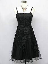 Cherlone Black Prom Lace Ball Evening Bridesmaid Wedding Formal Dress Size 14-16