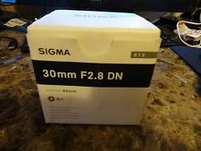 Sigma EX 30mm f/2.8 DN Art Lens For  Micro FT Four Thirds 4/3