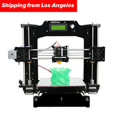 Full Acrylic Metal Kit Reprap 3D Printer Prusa i3 X for DIY Gift Fast From US