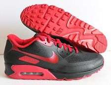 NIKE MEN AIR MAX 90 HYPERFUSE PREMIUM ID BLACK/RED SZ 13  [653603-992]