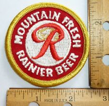 Rainier Mountain Fresh Beer  Cloth Beer Patch