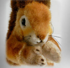 Steiff Kecki stuffed squirrel animal with button in ear - FREE SHIPPING