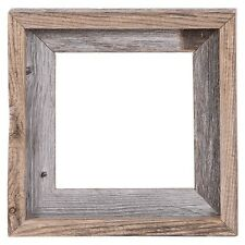 "8x8 – 2"" Wide Signature Reclaimed Rustic Barn Wood Open Frame No Glass or Back"