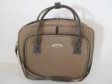 "Samsonite Laptop Carrier/Briefcase,Tan & Brown,17""x16"",Shoulder Strap,Vy Gd Cond"