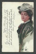 "Postcard Harrison Fisher ""Grace Vernon""/'Nedra' by Dodd-Mead 1905 Advertisement"