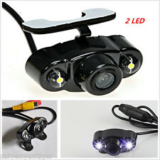 Waterproof Dual LED Night Vision Vehicle Reversing Rearview Backup CMOS Camera
