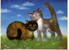 POSTCARD CARTE POSTALE ILLUSTRATEUR RENATE KOBLINGER N° LA 153 CAT / CHAT
