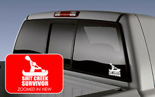 Sh*t Creek Survivor Funny Car Truck Window Vinyl Decal Sticker