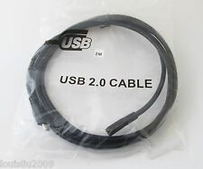 1pc 2M/6ft Extension Data Cable Micro USB 5pin Male to Female Straight Cable