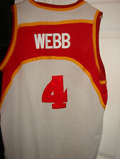authentic Spud Webb jersey Mitchell and Ness  Atlanta Hawks jersey Dominique