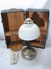 Antique Sunray Gasoline Lamp w/Ribbed Shade & Case Knight Light Co