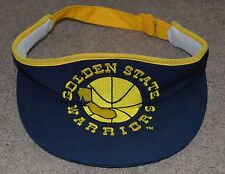 NWOT Vtg Golden State Warriors Sun Visor Hat AJD Retro Deadstock NOS NBA