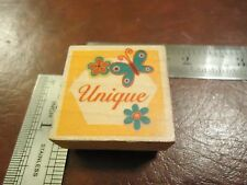 UNIQUE WITH FLOWERS AND BUTTERFLIES RUBBER STAMP PHRASES QUOTES SAYINGS RARE