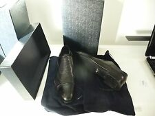 PRADA BLACK CALF RILUX LEATHER LACED OXFORD SHOES 2EB094 NEW  ZIZE 10