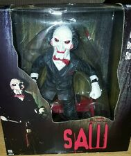 "SAW OFFICIAL Billy the Puppet MOVIE DOLL 12"" WITH BICYCLE AUTHENTIC talking fine"