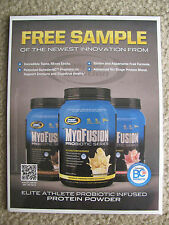 Gaspari Myofusion Promotional Standee Bodybuilding Memorabilia Advertisement