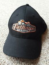 Fatboys Bar & Grill Motorcycle Biker Hat Black Orange Harley East Bethal Mn