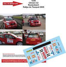 DÉCALS PROMO 1/18 réf 1236 Citroen C2 Rautenbach Rallye du Touquet 2005