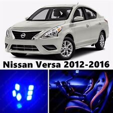 9pcs LED Blue Light Interior Package Kit for Nissan Versa 2012-2016