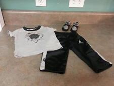 Air Jordan BABY Sneakers~Gray & Black~Size 1C~370305-003 With Outfit
