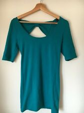 Top Shop Jade Stretch Cotton Size 10 Bow Detail At Back Dress  T5956