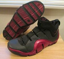 RARE 2006 Nike Zoom LeBron IV 4 Black Red Bred Playoffs Men's Shoes size 13