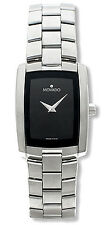 Women's Movado Eliro Stainless steel watch with Black Dial!