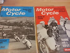 2 x Motor Cycle Magazine Feb and April 1967 FREEPOST Qwk Dispatch Reliant L@@K!!